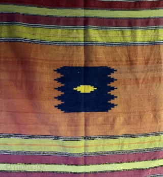 "Antique (first half of the 20th century) Persian sofreh or small kilim.  Very finely woven. 37"" by 54"". Please ask for additional photos."