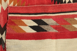 Antique Navajo transitional weaving, circa 1890-1900.  Please ask questions.