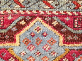 Antique Anatolian yastik.  19th Century.  All dyes natural.  Please ask for additional photos.