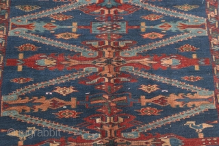 "Antique Caucasian Kuba Seychour long rug, circa 1890-1910.  5'2"" by 10'5"".  Some old reweaves in the center.  Very reasonably priced."