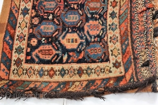 Antique Afshar single bag.   Circa 1900.  Complete with original flat weave back.