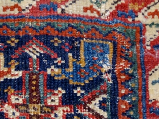 "Lovely Afshar Chanteh, last quarter of the 19th Century, all dyes natural.  Original back.  15"" by 12""."