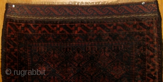 Very finely knotted Baluch bagface, last quarter of the nineteenth century, in excellent condition, beautiful silky wool, mostly full pile, natural dyes, original ends.  The edges were redone at some point  ...