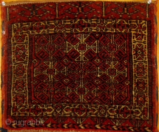 """Complete pair of antique Tekke Turkmen khorjin, circa 1900, all natural dyes, with original edges and flat-woven back, good overall condition. 17"""" by 35"""".  Please request additional photos if needed."""
