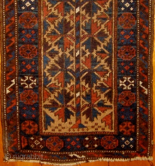 "Camel ground Baluch balisht face with ""tree of life"" design.  Good overall condition, original selvages, all natural dyes, circa 1900. 17"" by 38"".  Please ask for additional photos"