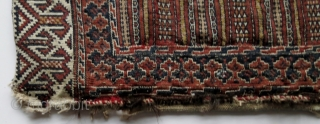 Antique Turkmen Saryk khorjin (saddlebags), circa 1900-1920, flat-woven in various techniques.  Used as grain bags at one point in their early career.  Washed and ready to complement your collection.   ...