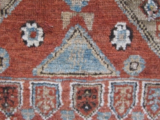 Antique Western Anatolian Dazkiri area yastik, all dyes natural, cotton warp and weft, some obvious condition issues.  Please ask for additional photos if needed.