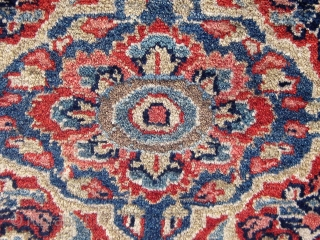"""Antique Persian Kashan, early 20th Century, in good condition.  4'6"""" by 6'8"""".  Please ask for additional photos if needed."""