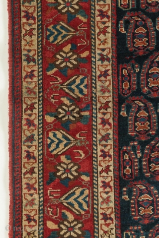 "Antique Persian Afshar rug, first quarter of the 20th century, good condition, all dyes natural, 4'2"" by 5'5""."