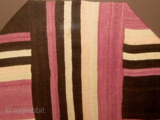 "19th Century Rio Grande textile, just purchased from an estate in Charlotte NC.  This piece came to me framed under glass.  It measures 18"" by 74"".  Stripes of ivory,  ..."