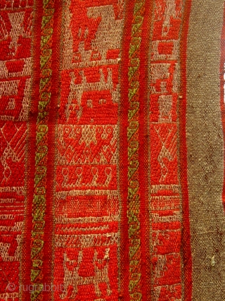 Antique Aymara woman's mantle, Peru or Bolivia, first half of the 20th century.  Appears to comprise two halves of originally distinct mantles. Please ask for additional photos.
