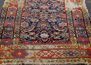 NW Persian Kurdish runner in fragmented condition, circa 1880.  Approximately 14 feet long. Please ask for additional photos.