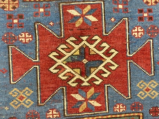"""Classic Antique Kazak Karachopf,   c.1880-1900,  90"""" X 52""""  Very good used condition,  Pile is low but even through out,  Ends and edges in good condition,  No holes, moth damage, stains or odors...  An almost identical example can be  ..."""
