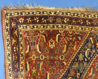 """Qashqai, c.1900+/-, 64"""" X 83"""", excellent condition. Available. PM for more information & price..."""