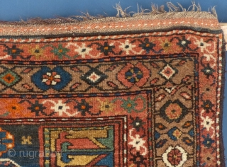 """This is , I believe a Kurdish piece. It measures 74"""" X 43"""". It is in excellent condition with almost no wear aside from the one end. I don't know its true age but it  ..."""