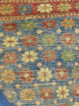 """Antique Bergama(?). c. 1880, 53"""" X 47"""", Excellent condition,  Price and details on request... SOLD THANKS"""