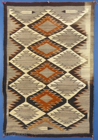 """Navajo Regional Weaving, c. 1915-25, 66"""" X 44"""", Very Good Condition but it does have t stains on the good side and fade on the other side (see pictures)  PLEASE EMAIL ME DIRECTLY  ..."""