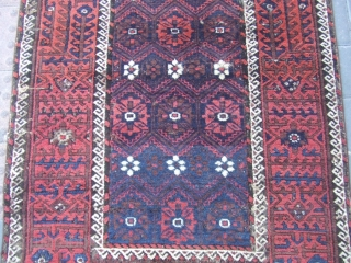 ANTIQUE BALUCH Size: 173x90-cm / 68.1x35.4-inches There is a hole and repair Very uniqe design! Good luck to all ,Best Offer