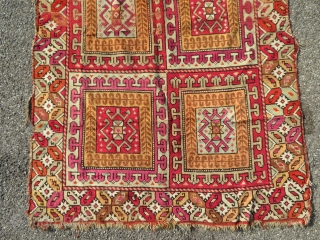 Antique 19th century moroccan carpet. Possibly Rabat.