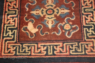 Semi Antik BaoTau Rug Size 116 x 61 (3'10 x 2'0) Little worn see picture