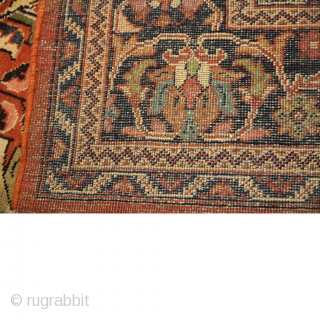 1920/30 Mahal Carpet Little surface wear in places but generally ok. Size330cm x 230cm