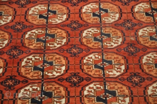 Bokhara Carpet Size 264 x 184 Condition Worn circa 1880-1900