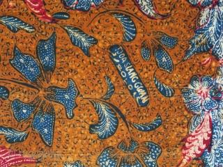 Java | Batik Waistcloth made in 3 States (Kain Panjang Batik Tiga Negeri) | Indonesia  Java, Solo / Lasem / Pekalongan, 1950 - 1960  A fine waistcloth (kain panjang) hand-drawn separately in Solo, Lasem,  ...