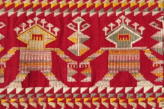 Borneo ceremonial carry-cloth (pua belantan)