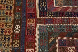 Mid. 19th century Anatolian Sivas kilim. Measures 510 x 192cm