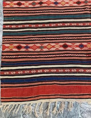 West Anatolian Kozak Kilim Size 142x207 / 4'6'' x 6'8''