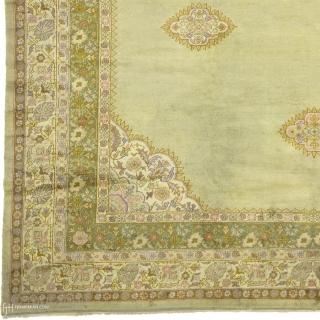 "Antique Turkish Oushak Rug Turkey ca.1910 13'8"" x 11'4"" (417 x 346 cm) FJ Hakimian Reference #04082"