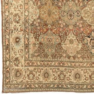 "Antique Persian Tabriz Rug Persia ca.1900 13'3"" x 9'11"" (404 x 303 cm) FJ Hakimian Reference #07124"
