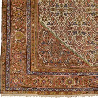 "Antique Persian Mahal Rug Persia ca.1910 13'10"" x 10'10"" (422 x 331 cm) FJ Hakimian Reference #06016"