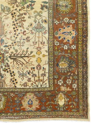 """Antique Persian Sultanabad Rug Persia ca.1890 13'11"""" x 9'11"""" (425 x 303 cm) FJ Hakimian Reference #06187"""