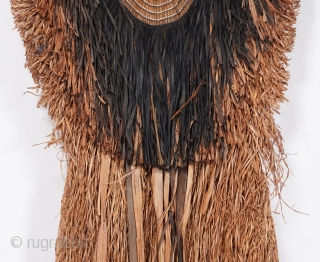 """Mino - old Japanese rain cape from over 100 years ago, made of bark of Japanese linden and cotton. This style of mino is called """"Date Gera"""". Gera is voiced sound of """"Kera""""  ..."""