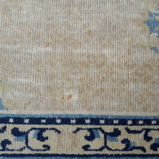 18th century Ningsia rug, subtley sophisticated, but showing signs of its age