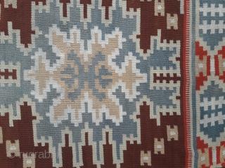 Antique Norwegian kelim, great condition 54in by 42in