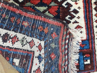 Pair of early 20th century kurdish bagfaces, good colours, full pile
