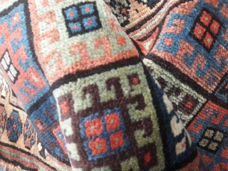 Late 19th/early 20th century Kurdish Jaf bag Good range of subtle, saturated colours, in full pile  26in by 26in