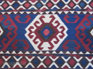 Caucasian kilim....Shirvan.....late 19th C....excellent condition....6'x 10' (185cm x 300cm ) vegetal dyes
