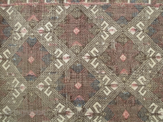 """West/ Central Anatolian Zile...before 1825......1'10"""" x 6' (56 x 180cm)....zile technique on balanced plain-weave ground.....all wool....as found, except for hand wash...condition as shown."""