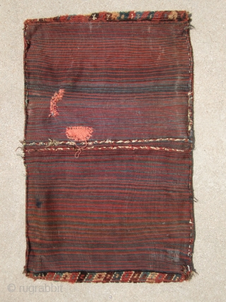 Complete Baktiari saddlebag ....19th C.....all veg dye... condition as found and shown here...more photos and Info available