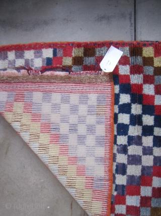 "Op-Art Karapinar Tulu....circa 1960...aniline dyes ...all wool...32"" x 51 ""  (80 x 130 cm ) very good condition as shown"