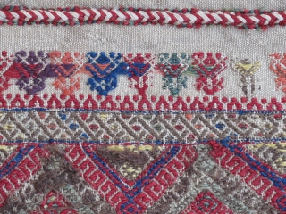 "Central Anatolian Cuval ( flour sack )...Sivas ?.....circa 1850.....28"" x 40""  (70cm x 100cm )...condition as found and shown."