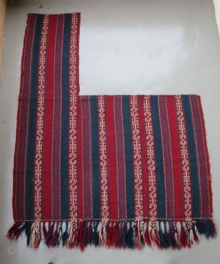 """Shahsevan Horse Cover....Northwest Iran....c.1920....all wool...mixed flat-woven techniques...4'2"""" x 6'(130 x 185cm)...very good condition as shown"""