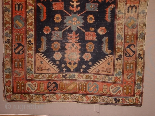oldest karabagh caucasian, I have seen, wonderful drawing, great natural colors, it has wear as is clear, no repairs! maybe 1860 or so  136x202cm  4.5x6.7ft