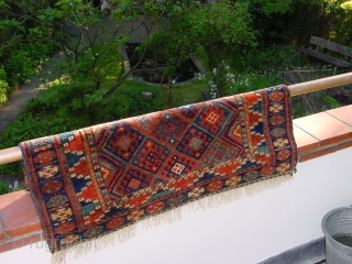wonderful large 1880 jaff kurdish bagface   great natural colors, all ends secured, clean one tiny professional headends repairs  62x100cm 2.1x3.3ft without the fringes