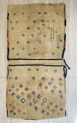 Qashqai khorjin 1880 circa all natural color and good condition size 84x43cm
