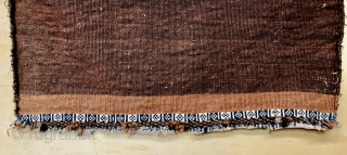 Very fine Qashqai bag 1870 circa all good colors warp and weft on wool,with beautiful tobacco color on kilim,size 100x51cm