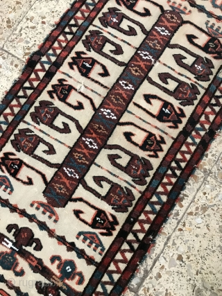 Turkmen wedding tent band fragment,Size:435 x 50 cm,came in after a good hand wash